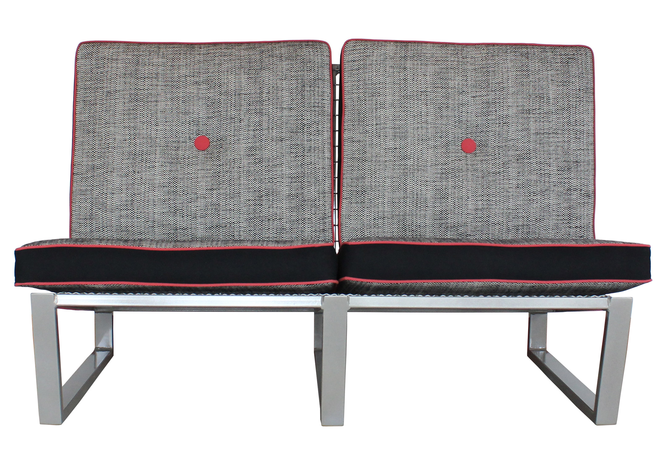 Del Calle loveseat from the front