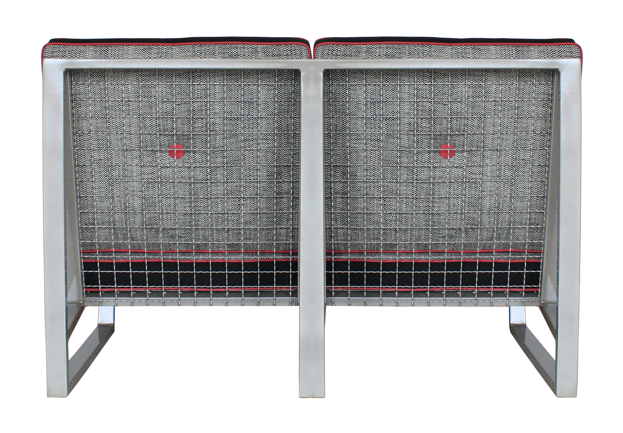 Del Calle loveseat from the back