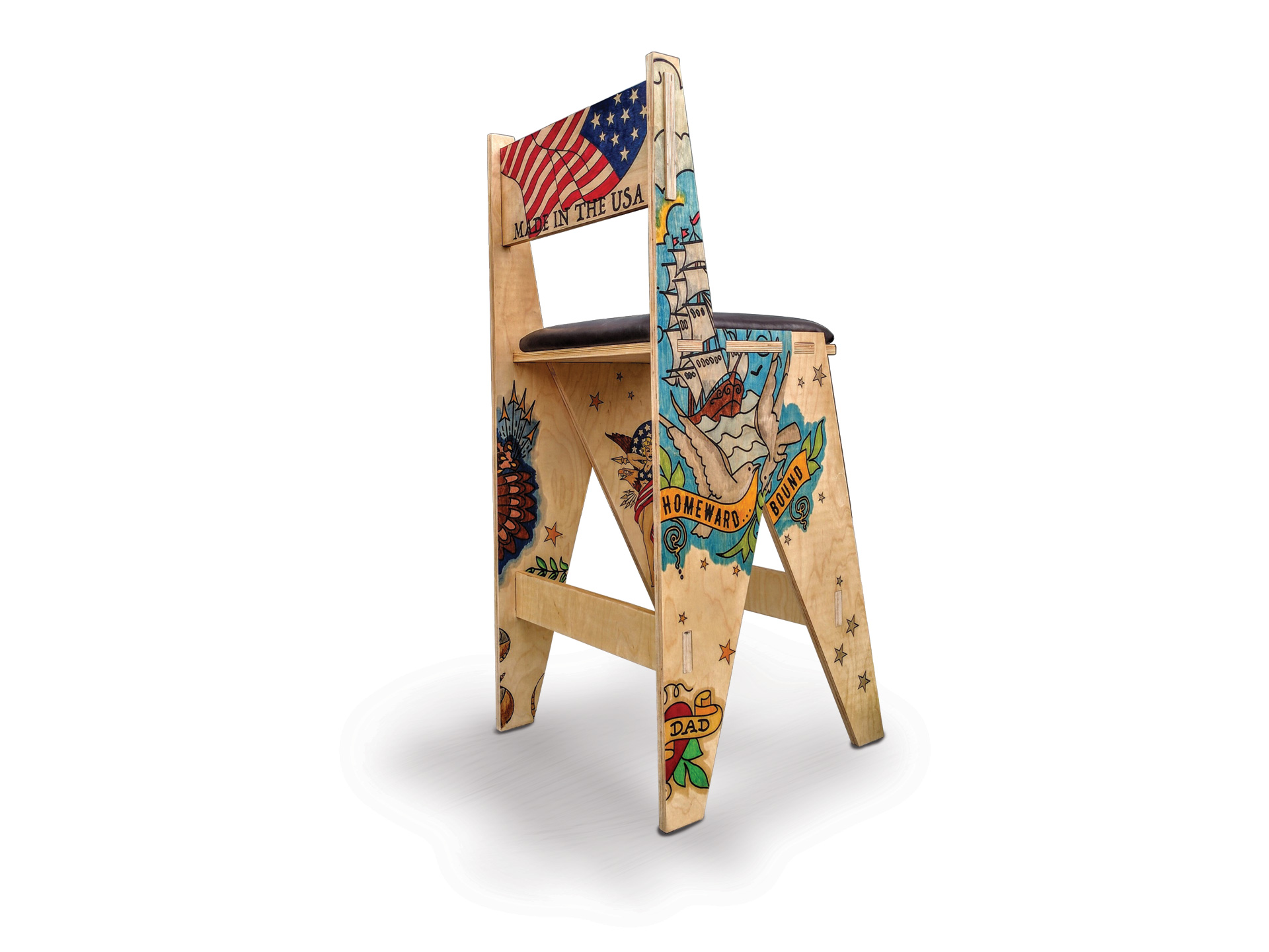 Tattoo Chair viewed from the rear right